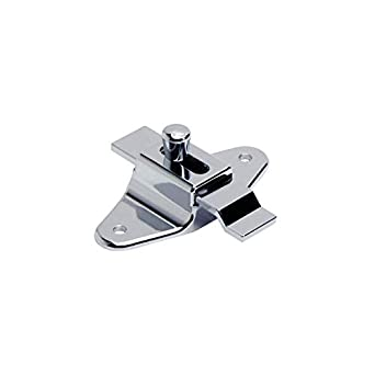 Tph Supply Bathroom Partition Chrome Plated 3 1 2 Hole Centers Surface Mount Offset Bar Slide Latch Package Of 2 Amazon Com Industrial Scientific