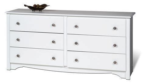 Prepac Furniture Monterey White 6-Drawer - Monterey Drawer 6 White Dresser