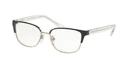 Tory Burch TY1052 Eyeglass Frames 3059-51 - Black/Silver TY1052-3059 ...