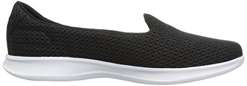 on Black Performance Skechers Lite Women's Go Lux Walking Shoe Step White Slip dYx6Uzwq