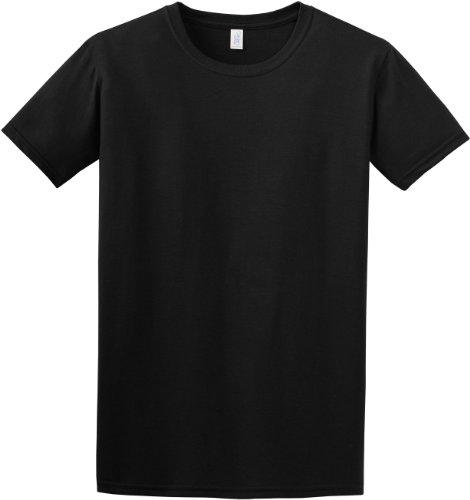 Gildan- Camiseta de manga corta para mujer Negro
