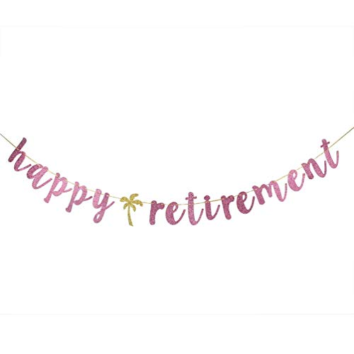 Happy Retirement Banner - Pink Retirement Sign - Welcome Back- Retired Party -