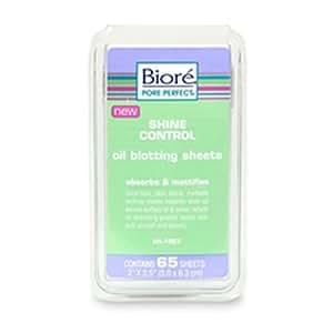 Biore Shine Control Oil Blotting Sheets Absorbs & Mattifies - 65 Sheets
