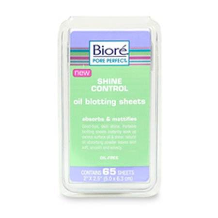 Biore Shine Control Oil Blotting Sheets Absorbs & Mattifies - 65 Sheets