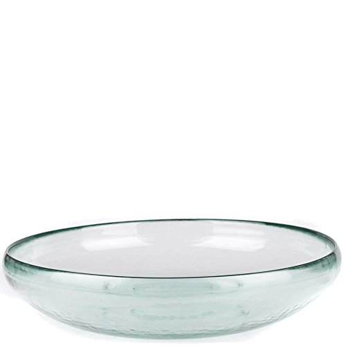 Glass Fruit Plate (Couronne Company G7004 Ivy Recycled Glass Bowl, 13 3/4