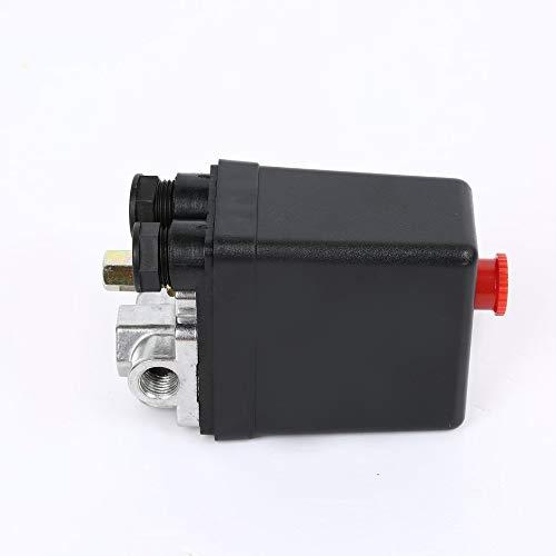 120 PSI Robinet de commande de pressostat de compresseur dair /à charge automatique 240V 16A /à contr/ôle automatique et charge automatique 90 PSI Noir