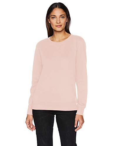 Pink Womens Sweatshirt - Amazon Essentials Women's French Terry Fleece Crewneck Sweatshirt Sweater, -light pink, X-Large