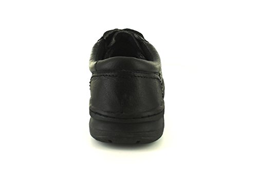 Neuf Pour Hommes/Hommes Noir Croft Originaux à Lacets Décontracté Chaussures Confort noir - TAILLES UK 6-12