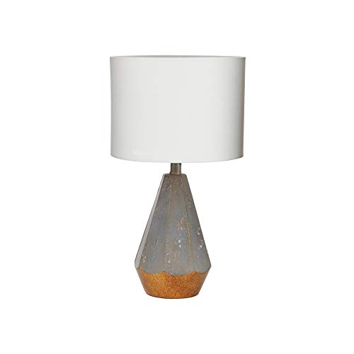 (Silverwood CPLT1526 Rustic Prism Table Lamp with Gold Accent, 18.5