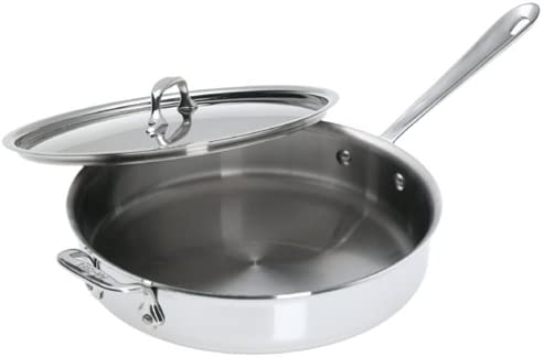 All-Clad 6-Qt 4406 SS Tri-Ply Bonded Dishwasher Safe Stock pot with Lid