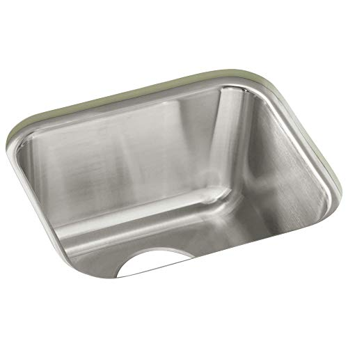 STERLING UCL1515 Springdale 14-inch by 12-inch Under-mount Single Bowl Bar Sink, Stainless ()