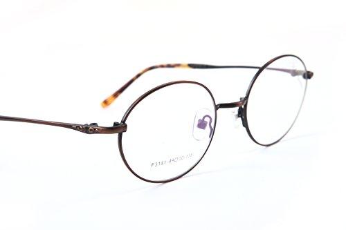F3141 KHOTY 2018 New Fashion Eyeglasses Frame Imported Alloy Memory Metal Women's Men's Optical Vintage Retro Eyewear Glasses Frame Transparent Lens Non-prescription Include Case (C4 Bronze) (Transparent Frame Bronze)