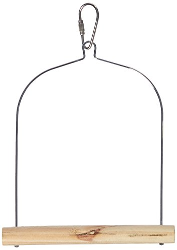 Wooden Bird Swing (Prevue Pet Products BPV389 Natural Wood Birdie Basics Birch/Wire Swing, 5 by 7-Inch)