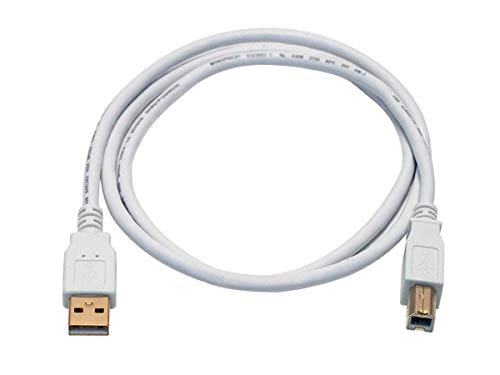 Monoprice 3ft USB 2.0 A Male to B Male 28/24AWG Cable - (Gold Plated) - White for Printer Scanner Cable 15M for PC, Mac, HP, Canon, Lexmark, Epson, Dell, Xerox, Samsung and More!
