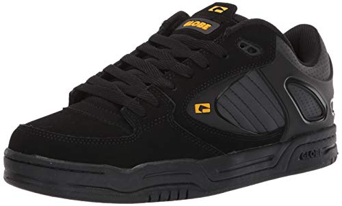 Globe Men's Agent Skate Shoe, Black/Gold, 10 Medium US