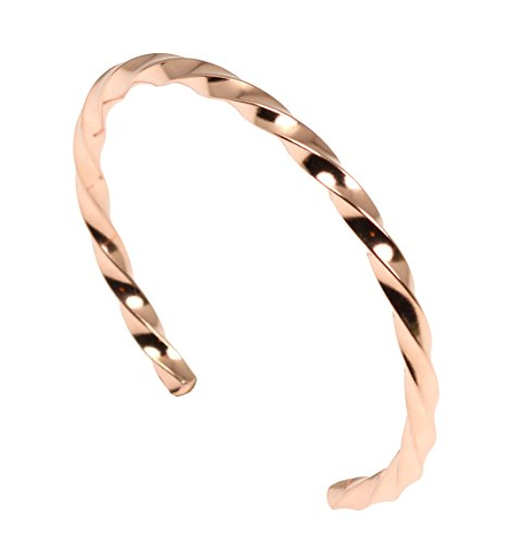 Twisted Copper Cuff Bracelet by John S Brana Handmade Jewelry 100% Solid Uncoated Copper (6.5)
