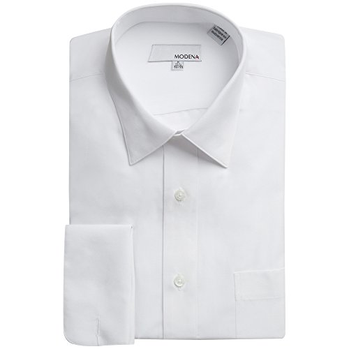 Modena Mens Solid French Cuff Dress Shirt - Colors (14.5