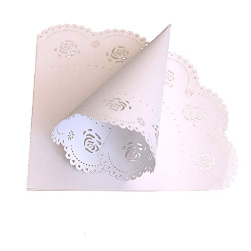 DIY Wedding Confetti Cones, Hollow Heart/Butterfly/Rose Laying Petal Candy Wedding Party Favors Confetti Cones Paper Decoration Supplies - Boxes Heart Cone Favor