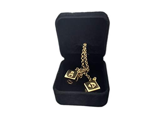 Display Dice (Custom 3D Stuff Smuggler's Dice Accurate Stainless Steel Gold Plated Deluxe Solo Dice)