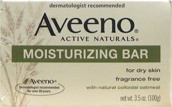 - Aveeno Moisturizing Bar with Natural Colloidal Oatmeal for Dry Skin, Fragrance Free, 3oz (12 pack)