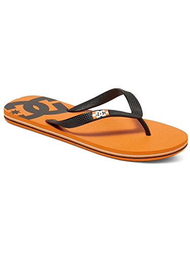 DC Flip-Flops Spray Orange-schwarz