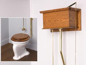 Picture Frame High Tank Toilet - Beaded Bowl - Lacquered