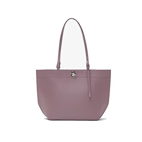 Design New Tote Women's Capacity Prpura Color Gray Simple Niche Bag Gris Shoulder Handbag Large Bag Lock UTwn5q