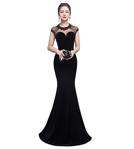 Drasawee Schwarz Schlauch Drasawee Kleid Damen Damen qvBwRv