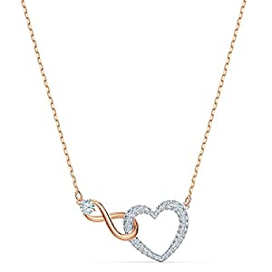 Swarovski Collana Infinity Heart, Bianco, Mix Di Placcature 9