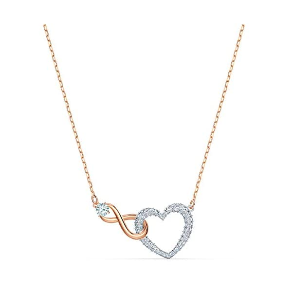 Swarovski Collana Infinity Heart, Bianco, Mix Di Placcature 1