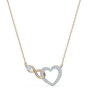 Swarovski oändlighet hjärta halsband