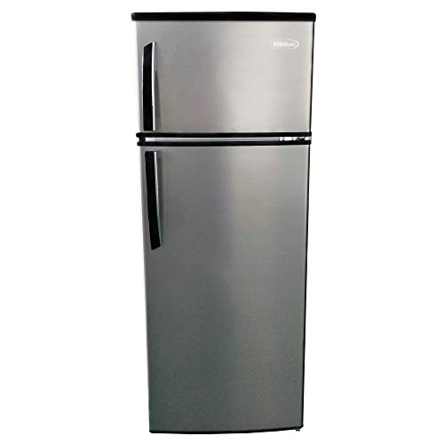 Premium PRF735HW 7.4 cu. ft. Refrigerator with Top Freezer, (Stainless Steel)