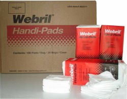 Webril Handi-pads 4x4 wipes (2000 WIPE CASE)
