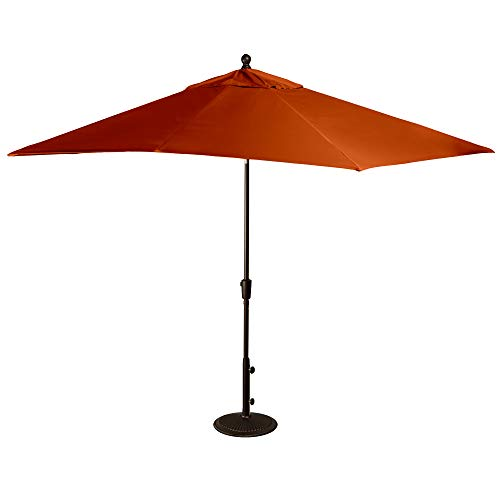 Island Umbrella NU5448TC Caspian Rectangular Market Umbrella, 8' x 10', Terra Cotta Olefin