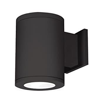 WAC Lighting DS-WD05-F40A-BK Tube Architectural 5 LED Light Away from Wall Flood Beam 4000K in Black Double