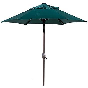 Abba Patio 7 1/2 Ft. Round Outdoor Market Patio Umbrella With Push