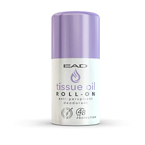 EAD Tissue Oil Roll-On Antiperspirant Lavender 50ml with Vitamin A & E for Scars, Uneven Skin Tone, Excessive Sweating, Irritated Armpits, and Dry, Dehydrated Skin