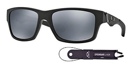 Oakley Jupiter Squared OO9135 913509 56M Matte Black/Black Iridium Polarized Sunglasses For Men+BUNDLE with Oakley Accessory Leash Kit