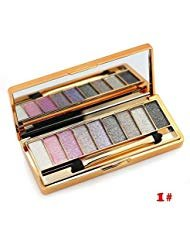 CTBeauty 9 Colors Diamond Bright Colorful Makeup Eye Shadow Set Flash Glitter Eyeshadow Palette with Brush,Edition 6
