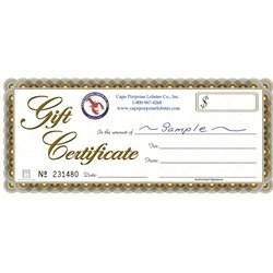 Seafood Gift Certificates - $150 by Cape Porpoise Lobster Co. Inc.