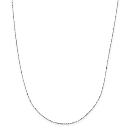925 Sterling Silver 0.5mm Cable Link Chain Necklace 24