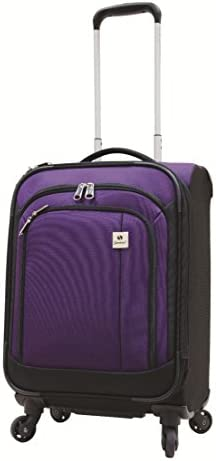 Samboro Feather Lite Lightweight Luggage 19 inches Exp. Carry-on Spinner Trolley – Purple Color