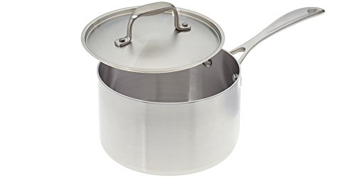 American Kitchen 3 Quart Tri-Ply Stainless Steel Sauce Pan w/ Cover, dishwasher safe
