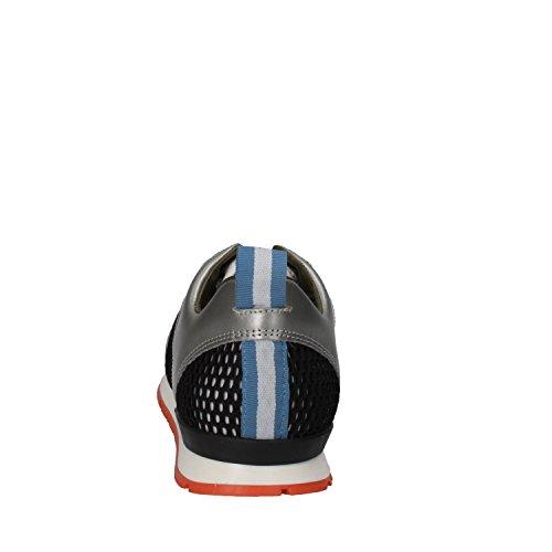 Sneakers Ae584 Donna Grigio D Tessuto e Pelle a Date t Bianco wv1UqaI