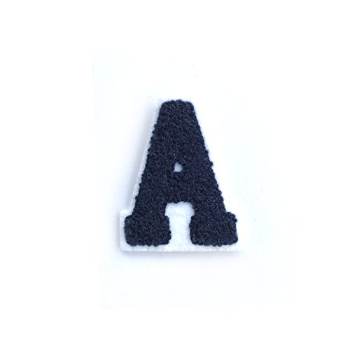 """Altotux 2.5""""x2"""" Chenille Letter A, Iron On Sew on Patch b..."""