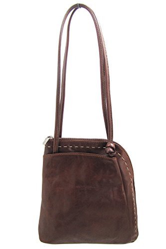 Italian Leather Backpack Brown Fiorentina Convertible Handbag Shoulder Cuoieria HnWc5xBTx
