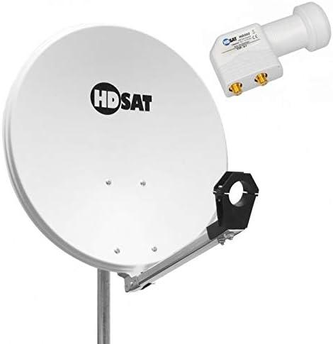 Pack Antena parabólica acero 60 cm + LNB Twin Golden Media 0 ...