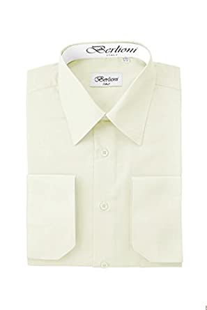 Elegant Men's Button Down Off-white Dress Shirt at Amazon Men's ...