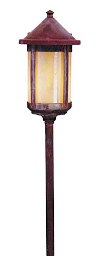 Outdoor Lamp Berkeley (Arroyo Craftsman LV18-B6LTN-VP Low Voltage Berkeley Long Body Stem Mount, 6