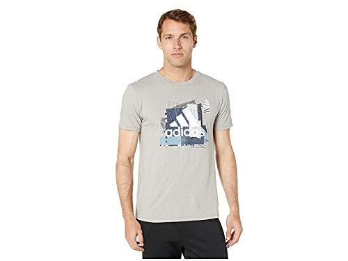 adidas Men's Badge of Sport Sport Layer Tee Medium Grey Heather Medium ()